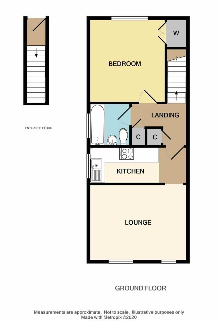 1 bed flat for sale in Taylors Close, Sidcup, DA14 - Property Floorplan
