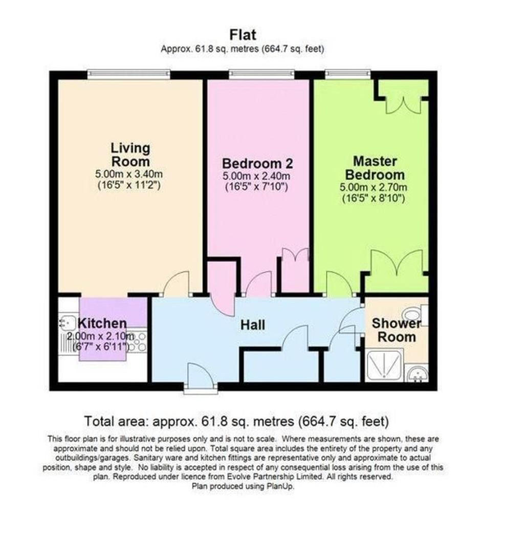 2 bed flat for sale in Lansdown Road, Sidcup, DA14 - Property Floorplan