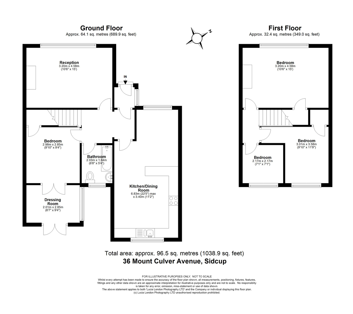 3 bed house for sale in Mount Culver Avenue, Sidcup, DA14 - Property Floorplan