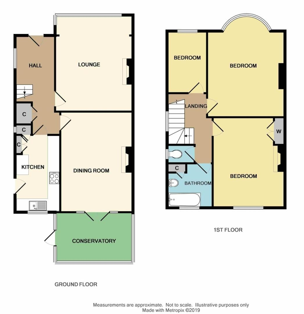 3 bed house for sale in Selborne Road, Sidcup, DA14 - Property Floorplan