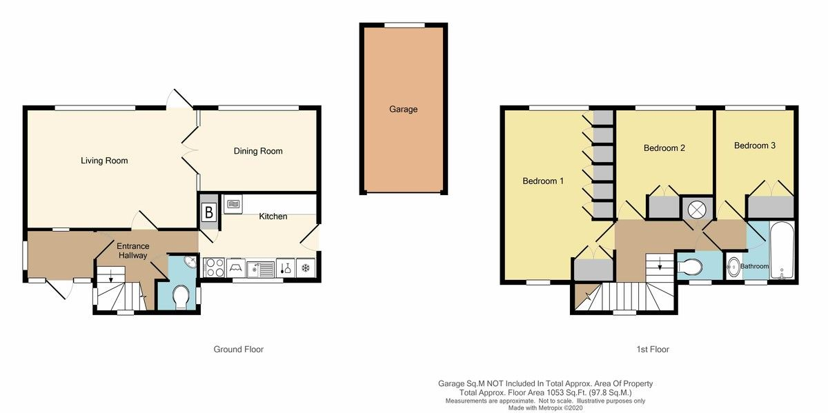 3 bed house for sale in St Johns Road, Sidcup, DA14 - Property Floorplan
