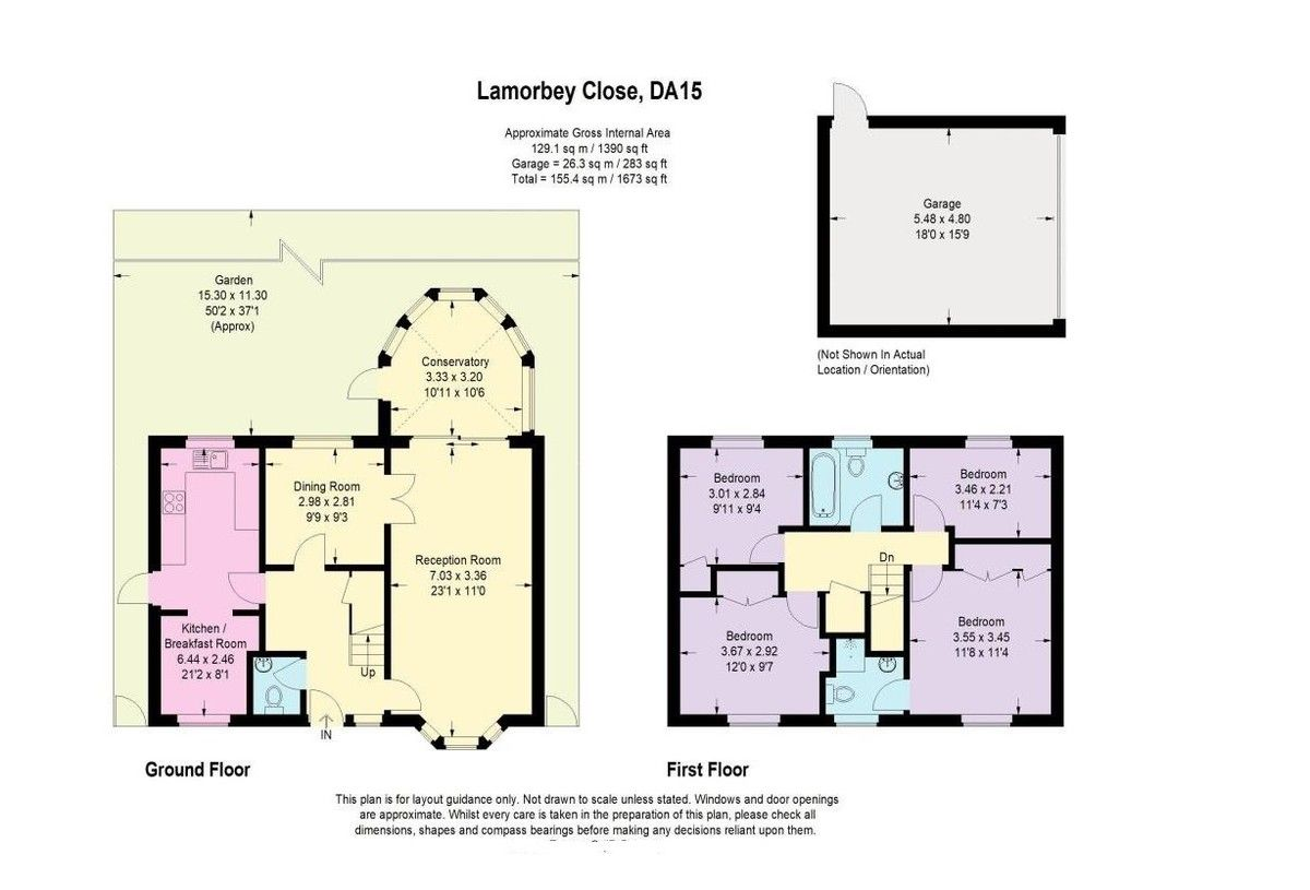 4 bed house for sale in Lamorbey Close, Sidcup, DA15 - Property Floorplan