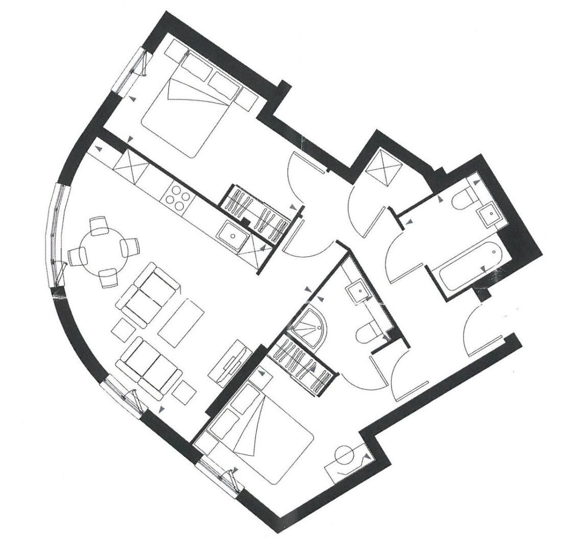 2 bed flat for sale in Fold Apartments, Station Road, DA15 - Property Floorplan