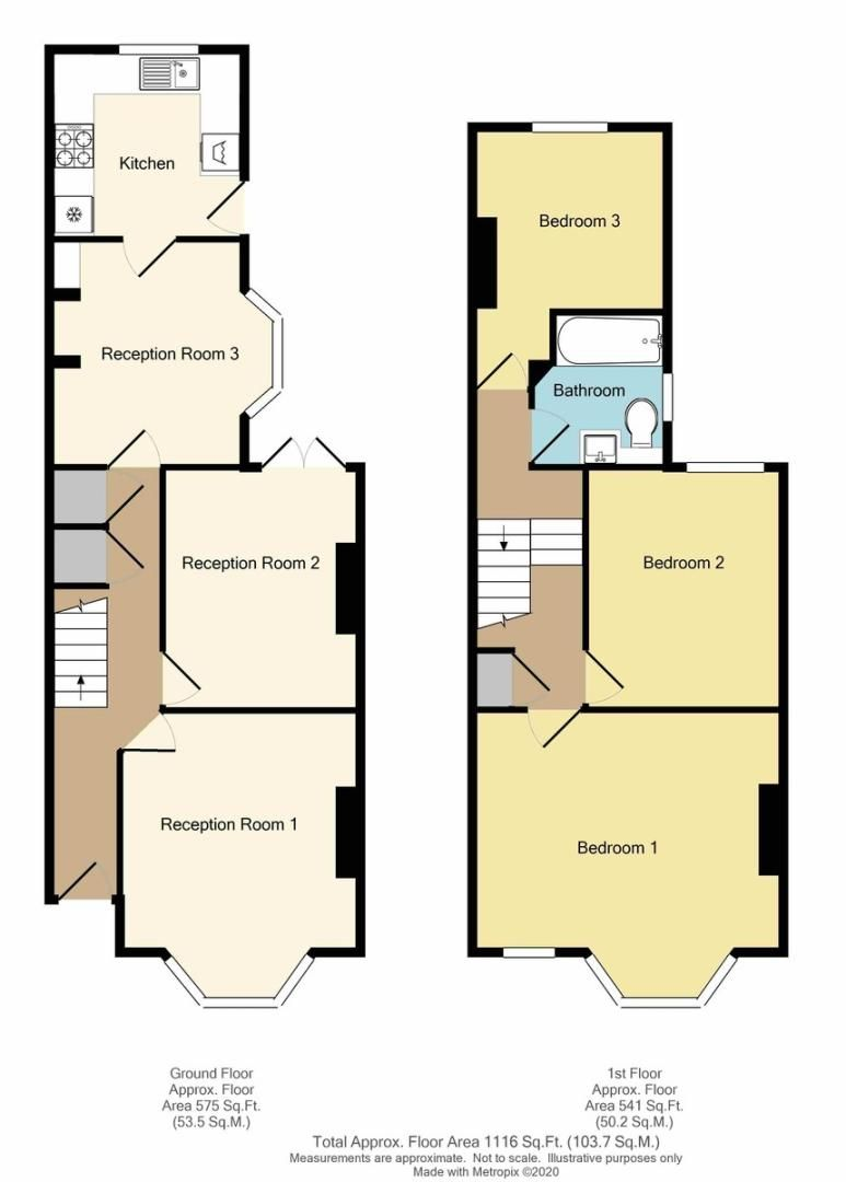 3 bed house for sale in Durham Road, Sidcup, DA14 - Property Floorplan