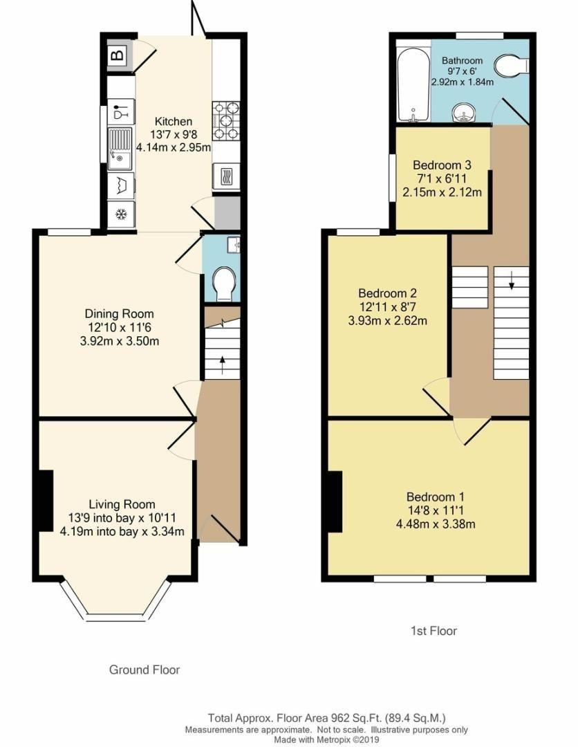3 bed house for sale in Cambridge Road, Sidcup, DA14 - Property Floorplan