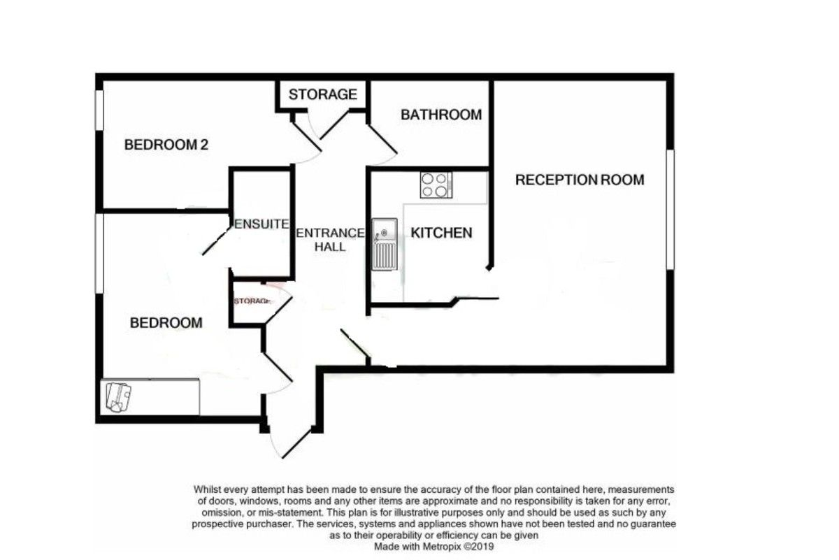 2 bed flat for sale in Wansunt Road, Bexley, DA5 - Property Floorplan