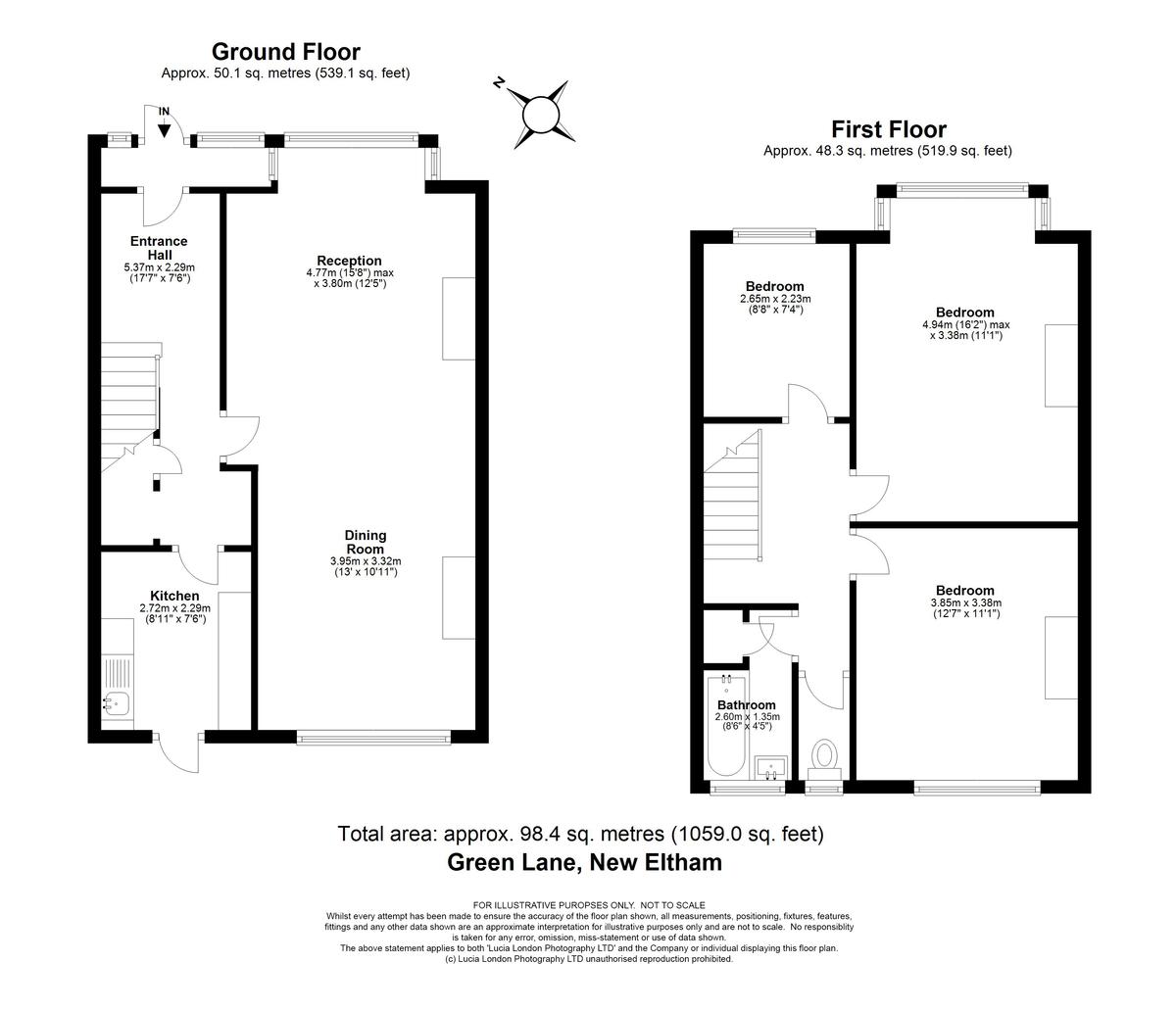 3 bed house for sale in Green Lane, New Eltham, SE9 - Property Floorplan