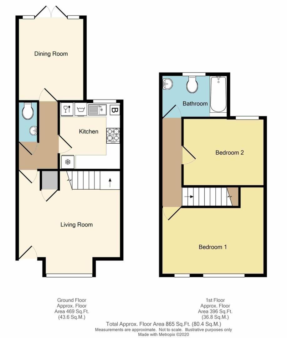 2 bed house for sale in Corbylands Road, Sidcup, DA15 - Property Floorplan