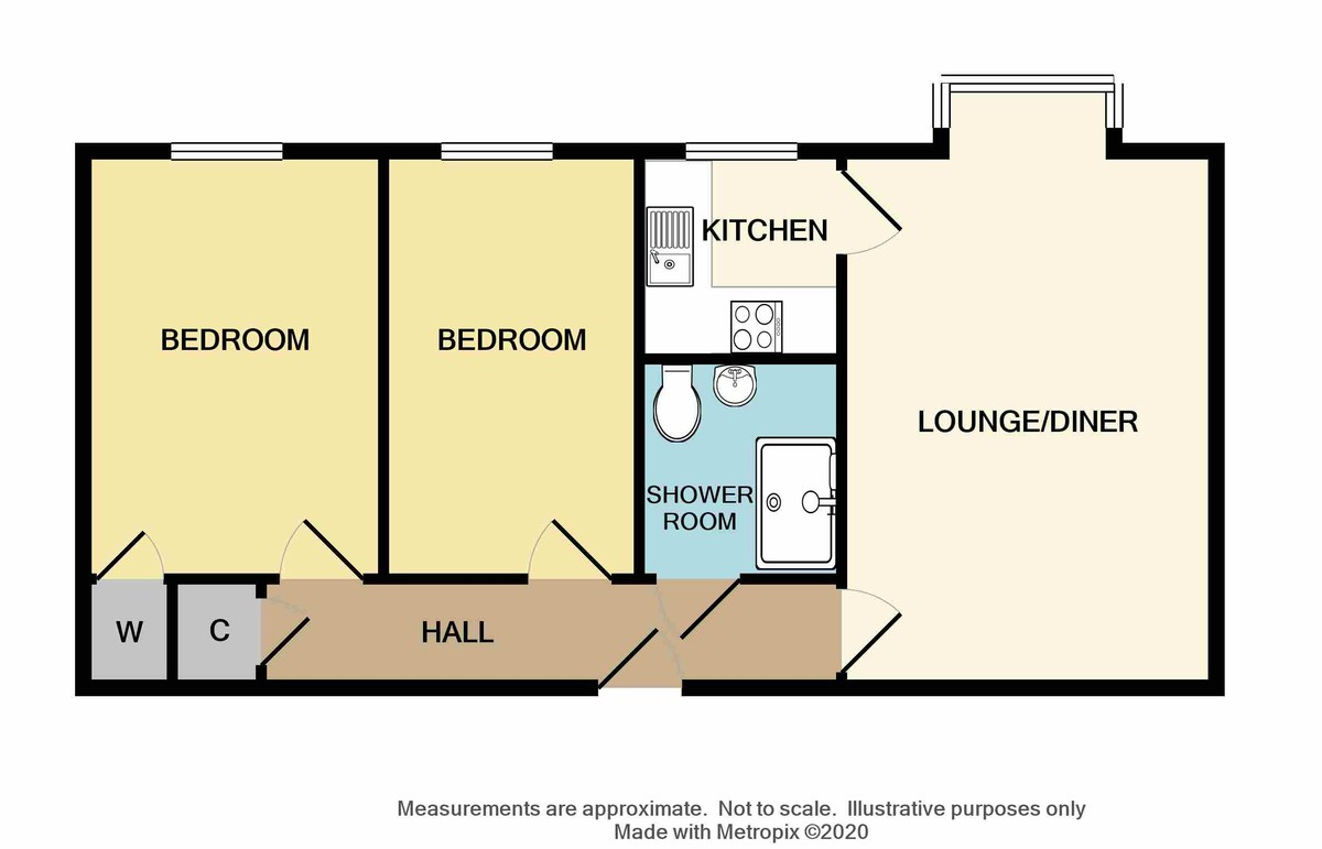 2 bed flat for sale in Hatherley Crescent, Sidcup, DA14 - Property Floorplan
