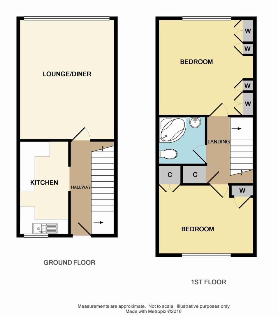 2 bed flat for sale in Manor Road, Sidcup, DA15 - Property Floorplan