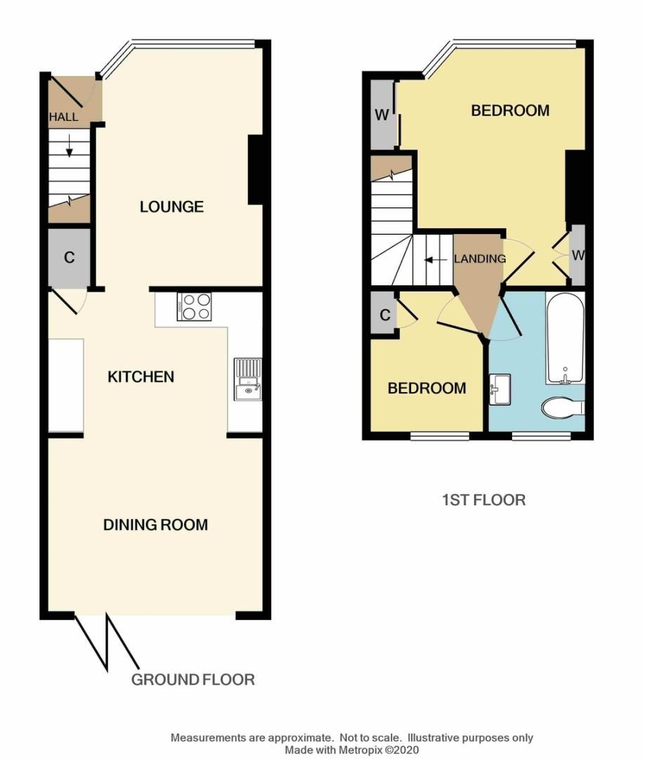 2 bed house for sale in Beverley Avenue, Sidcup, DA15 - Property Floorplan