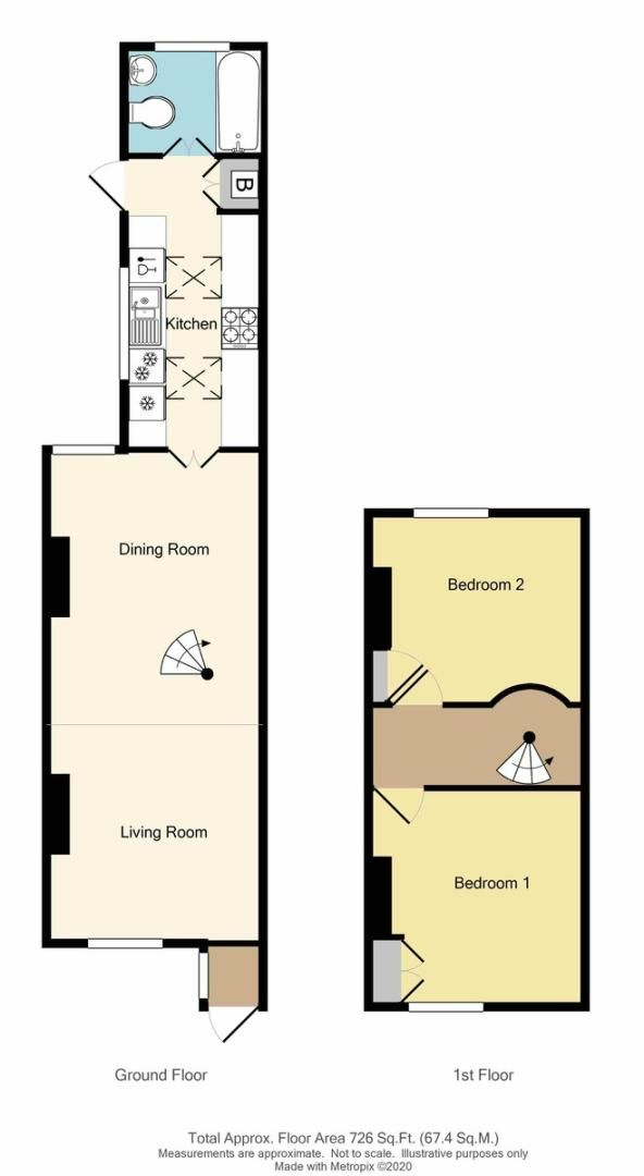 2 bed house for sale in Shirley Road, Sidcup, DA15 - Property Floorplan
