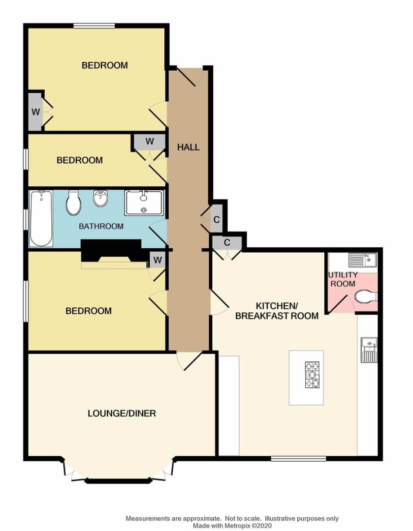 3 bed flat for sale in Rectory Lane, Sidcup, DA14 - Property Floorplan