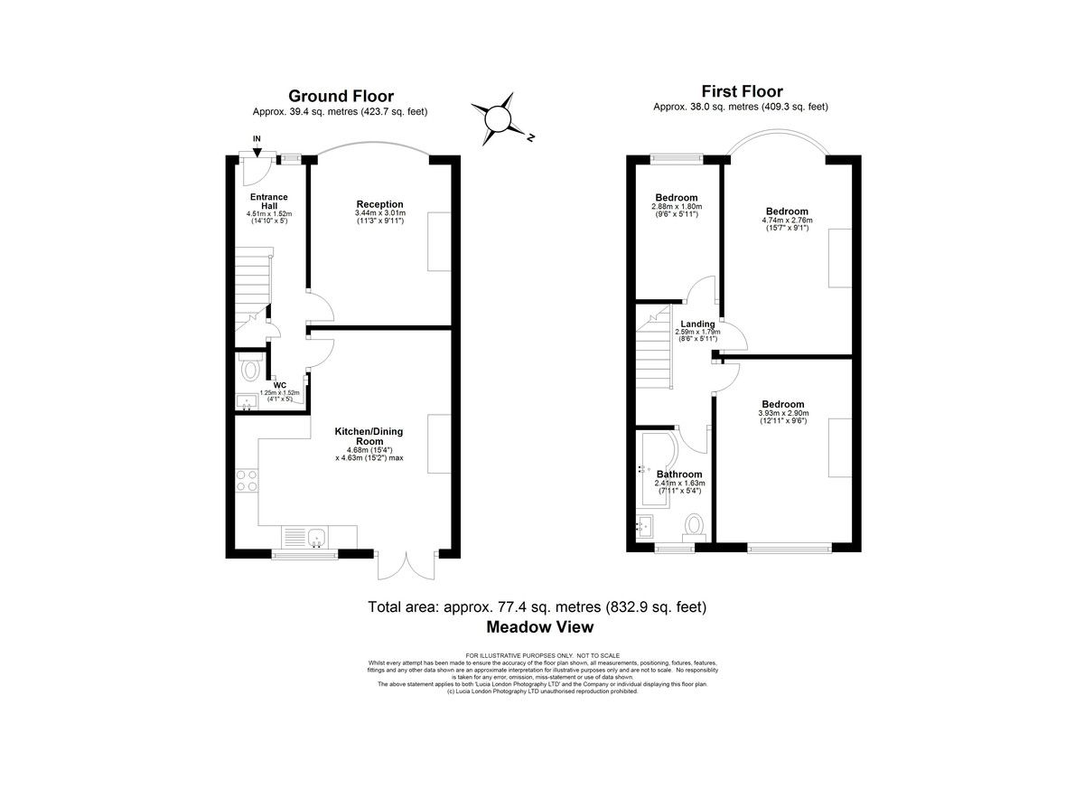 3 bed house for sale in Meadow View, Sidcup, DA15 - Property Floorplan