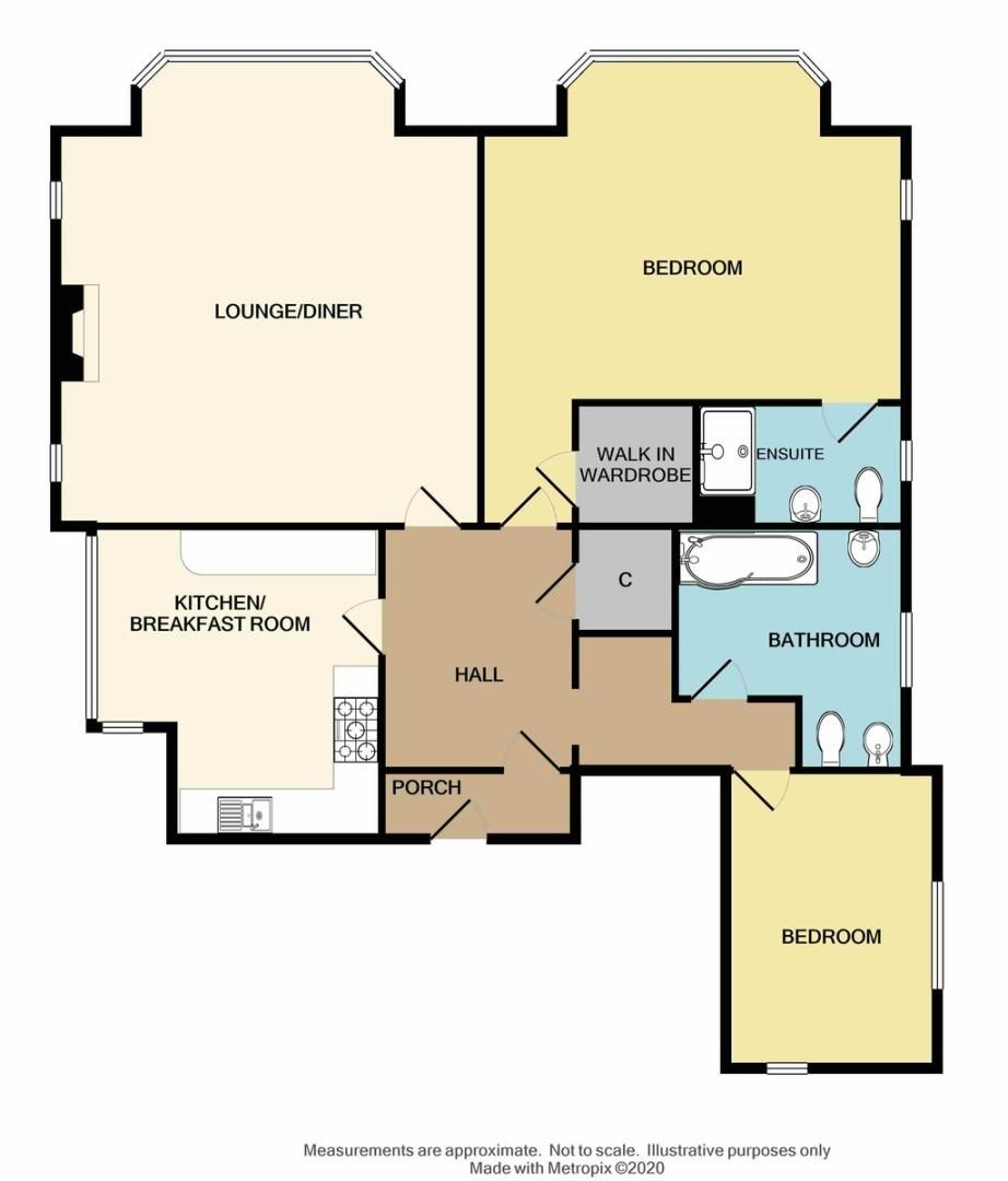 2 bed flat for sale in Acacia Way, Sidcup, DA15 - Property Floorplan