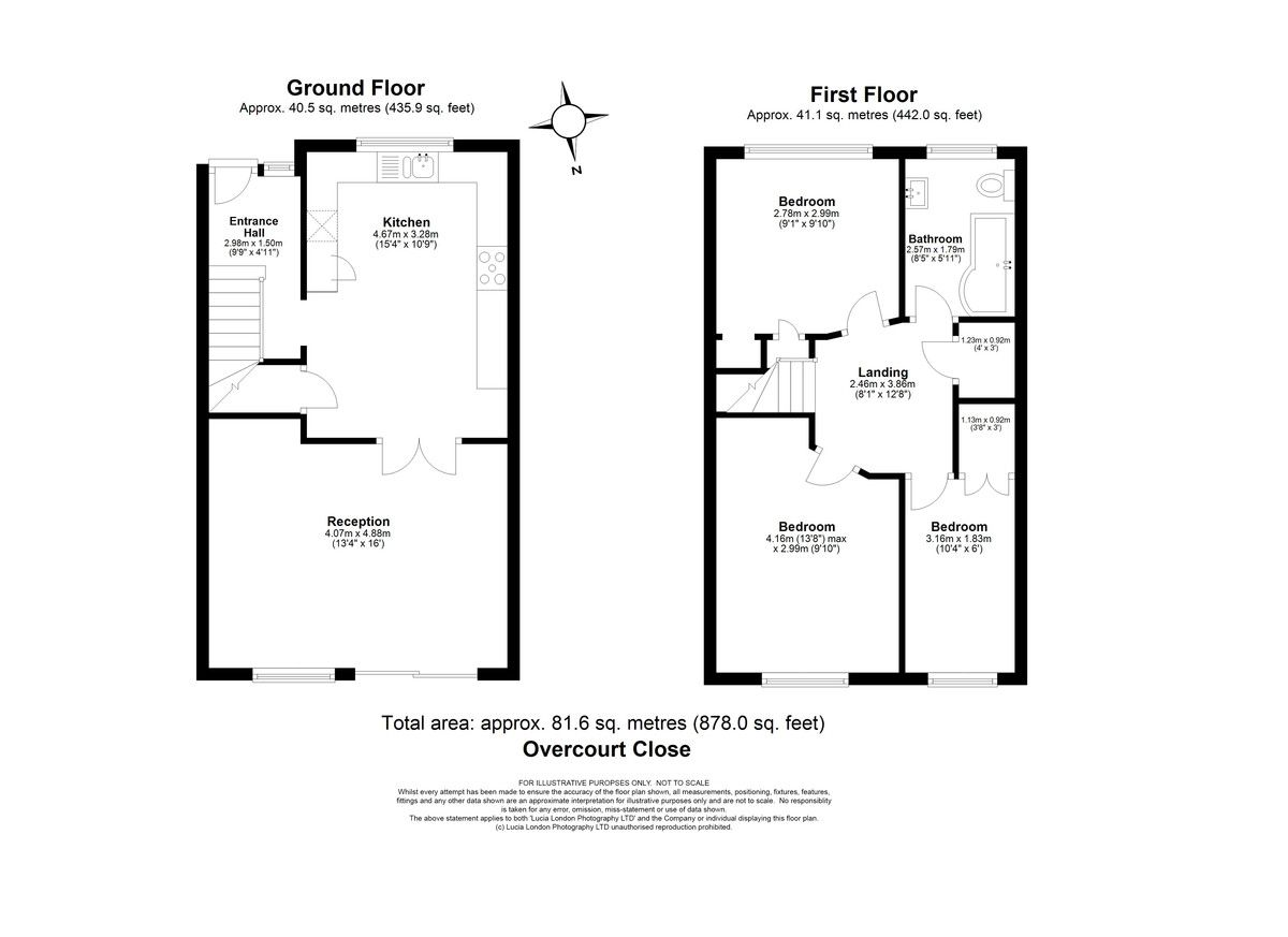 3 bed house for sale in Overcourt Close, Sidcup, DA15 - Property Floorplan
