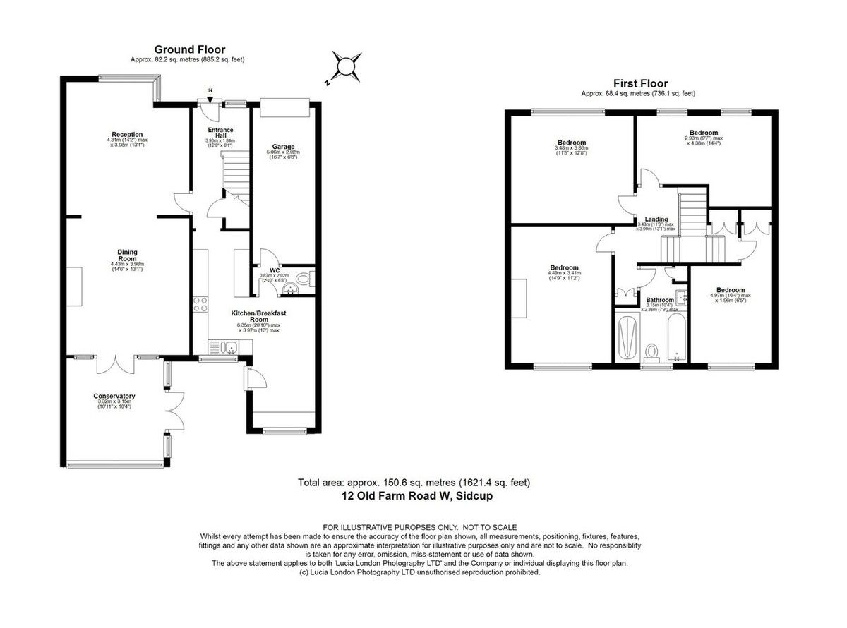 4 bed house for sale in Old Farm Road West, Sidcup, DA15 - Property Floorplan