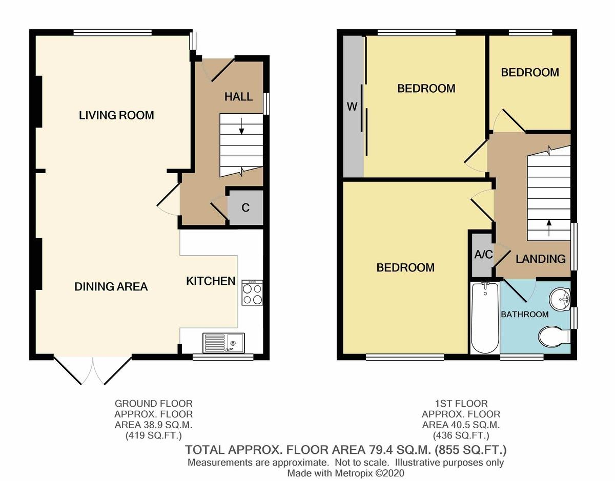 3 bed house for sale in Ruxley Close, Sidcup, DA14 - Property Floorplan