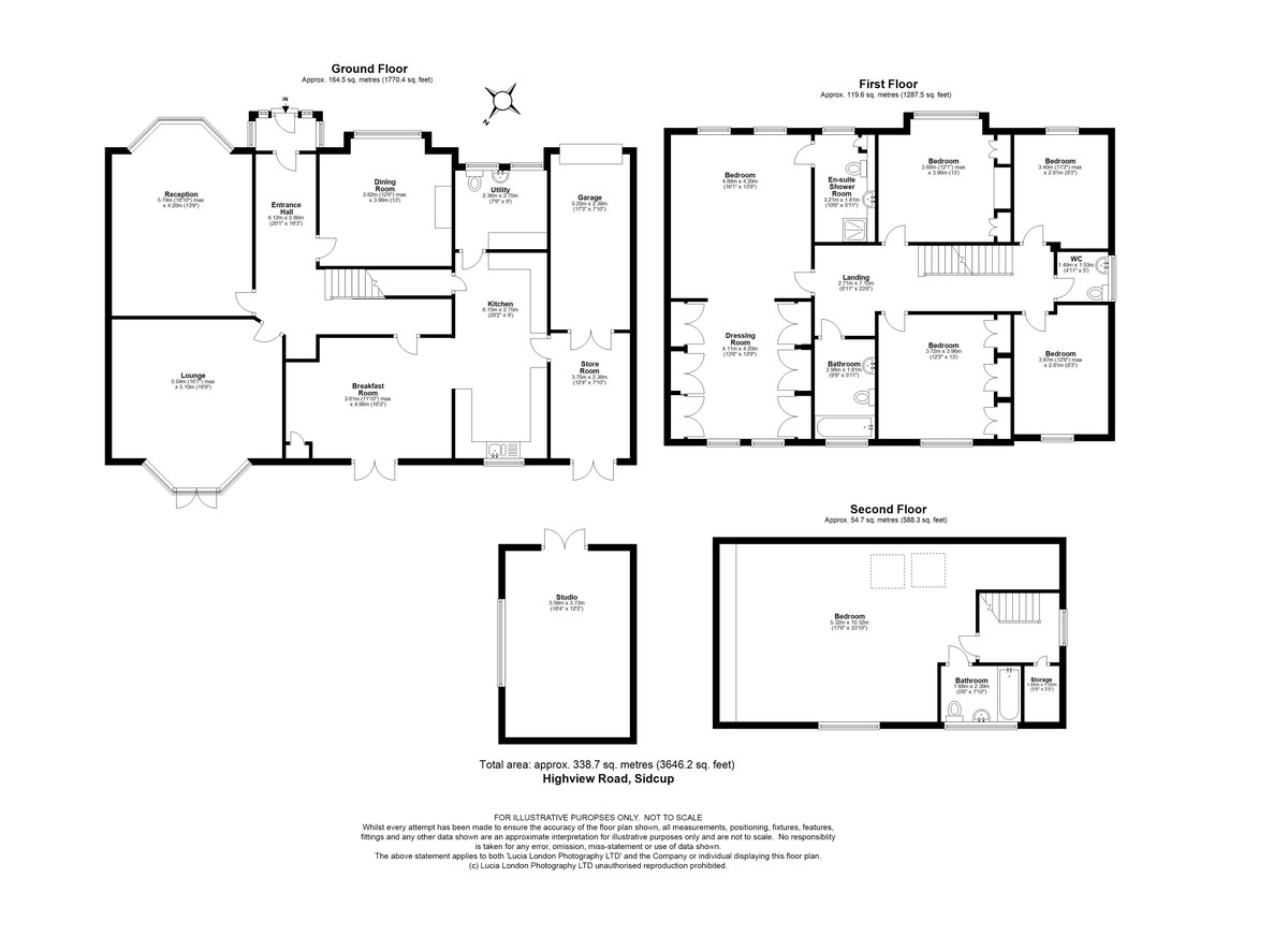 7 bed house for sale in Highview Road, Sidcup, DA14 - Property Floorplan