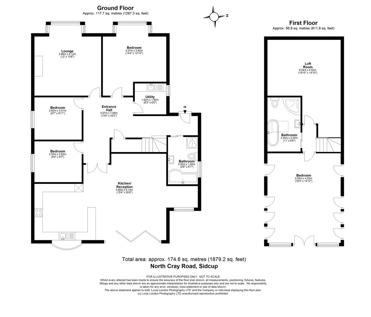 4 bed house for sale in North Cray Road, Sidcup, DA14 - Property Floorplan