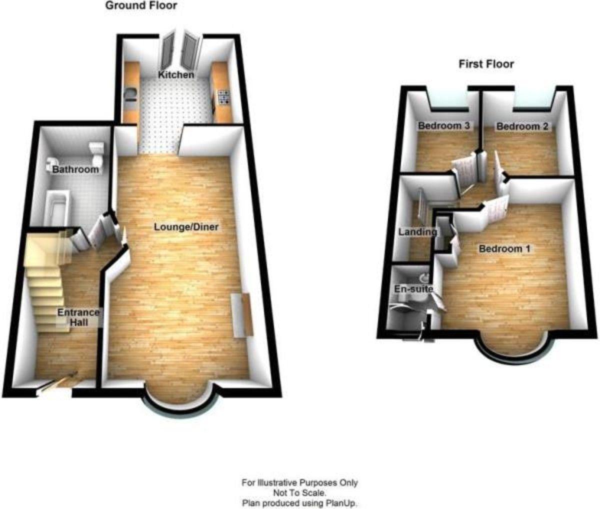 3 bed house for sale in Wellington Avenue, Sidcup, DA15 - Property Floorplan