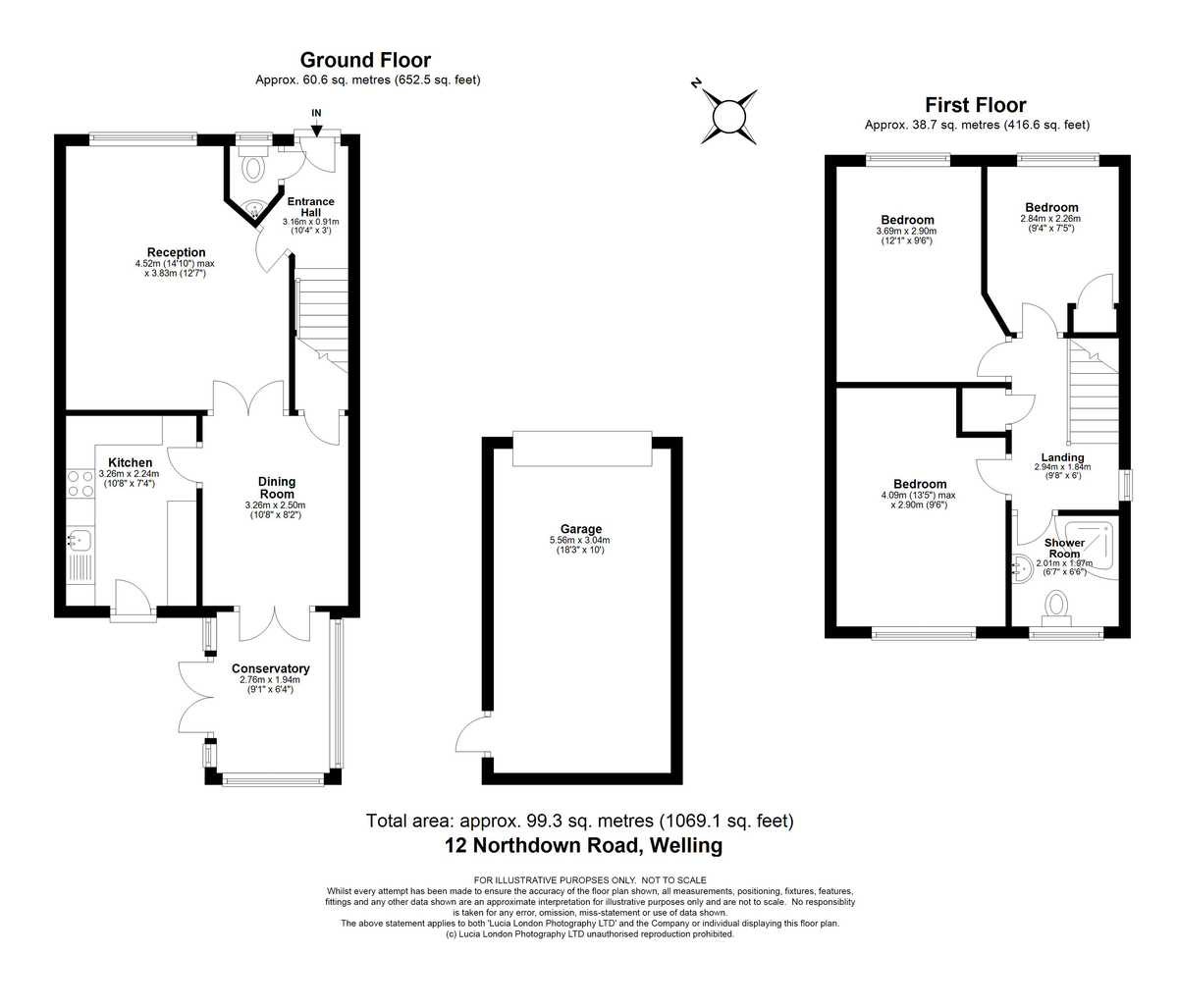 3 bed house for sale in Northdown Road, Welling, DA16 - Property Floorplan