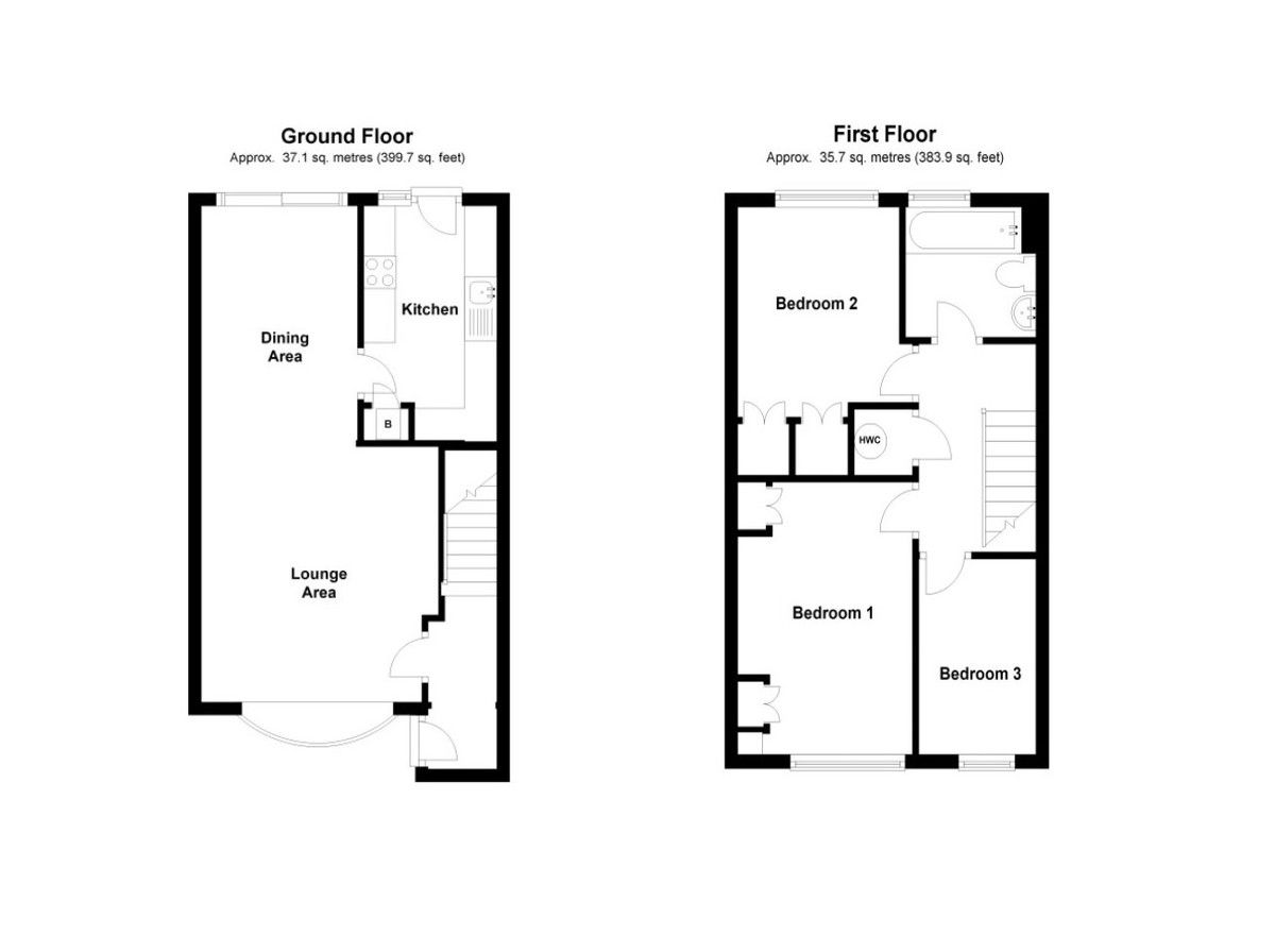 3 bed house for sale in Mark Close, Bexleyheath, DA7 - Property Floorplan