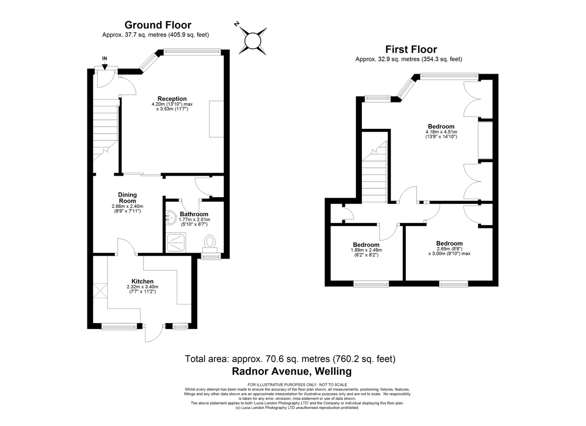 3 bed house for sale in Radnor Avenue, Welling, DA16 - Property Floorplan