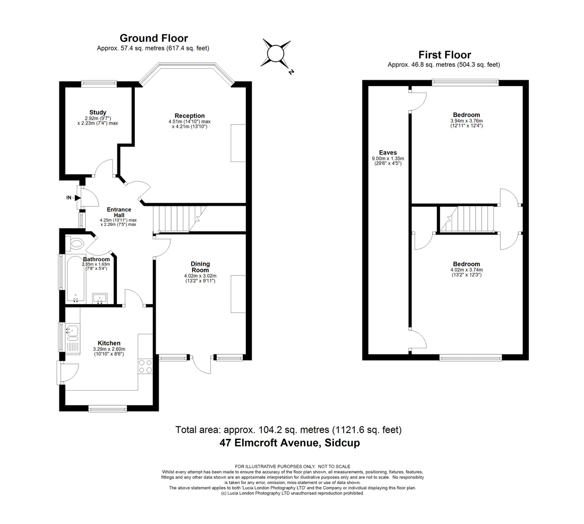 3 bed house for sale in Elmcroft Avenue, Sidcup, DA15 - Property Floorplan