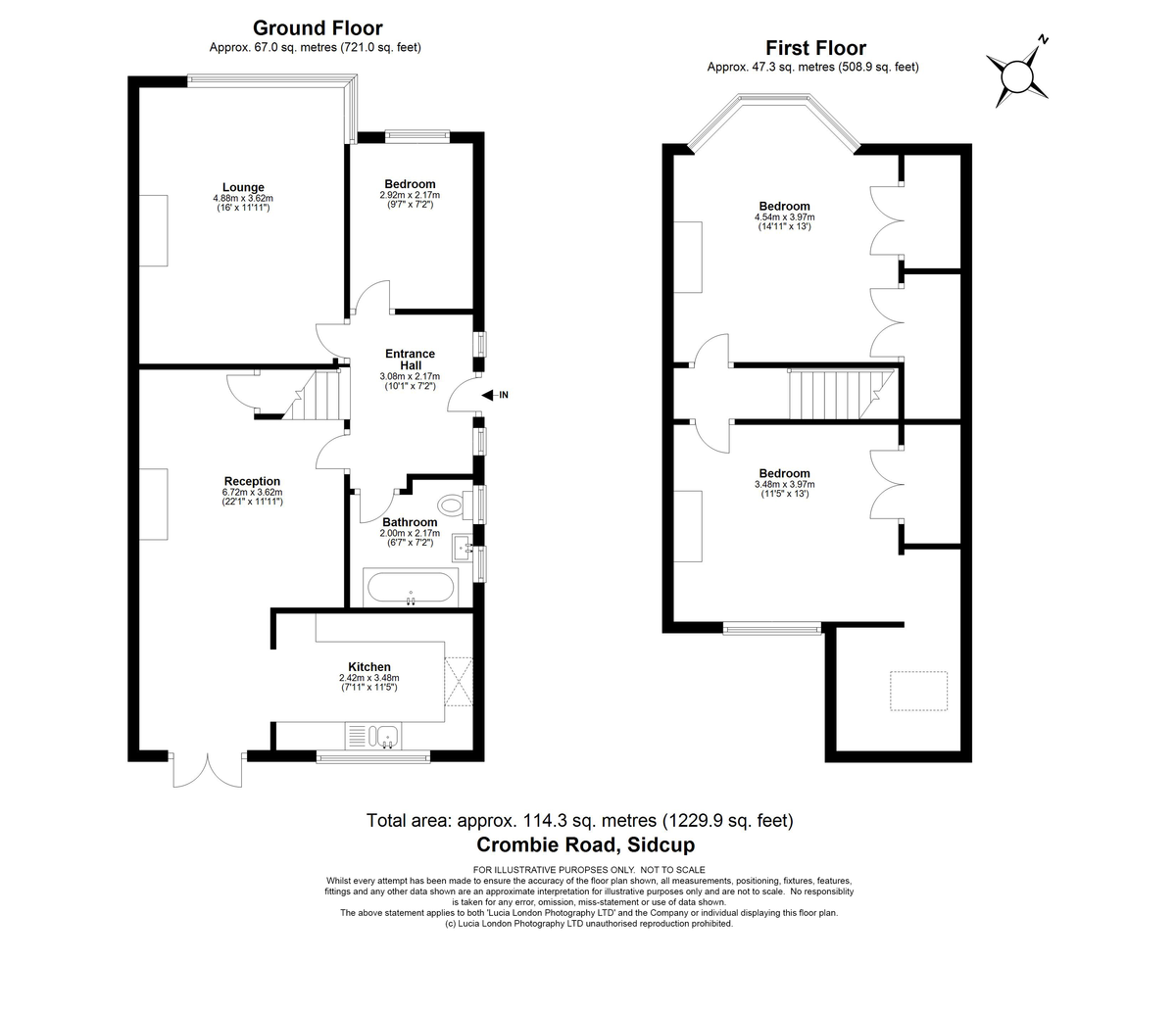 3 bed house for sale in Crombie Road, Sidcup, DA15 - Property Floorplan