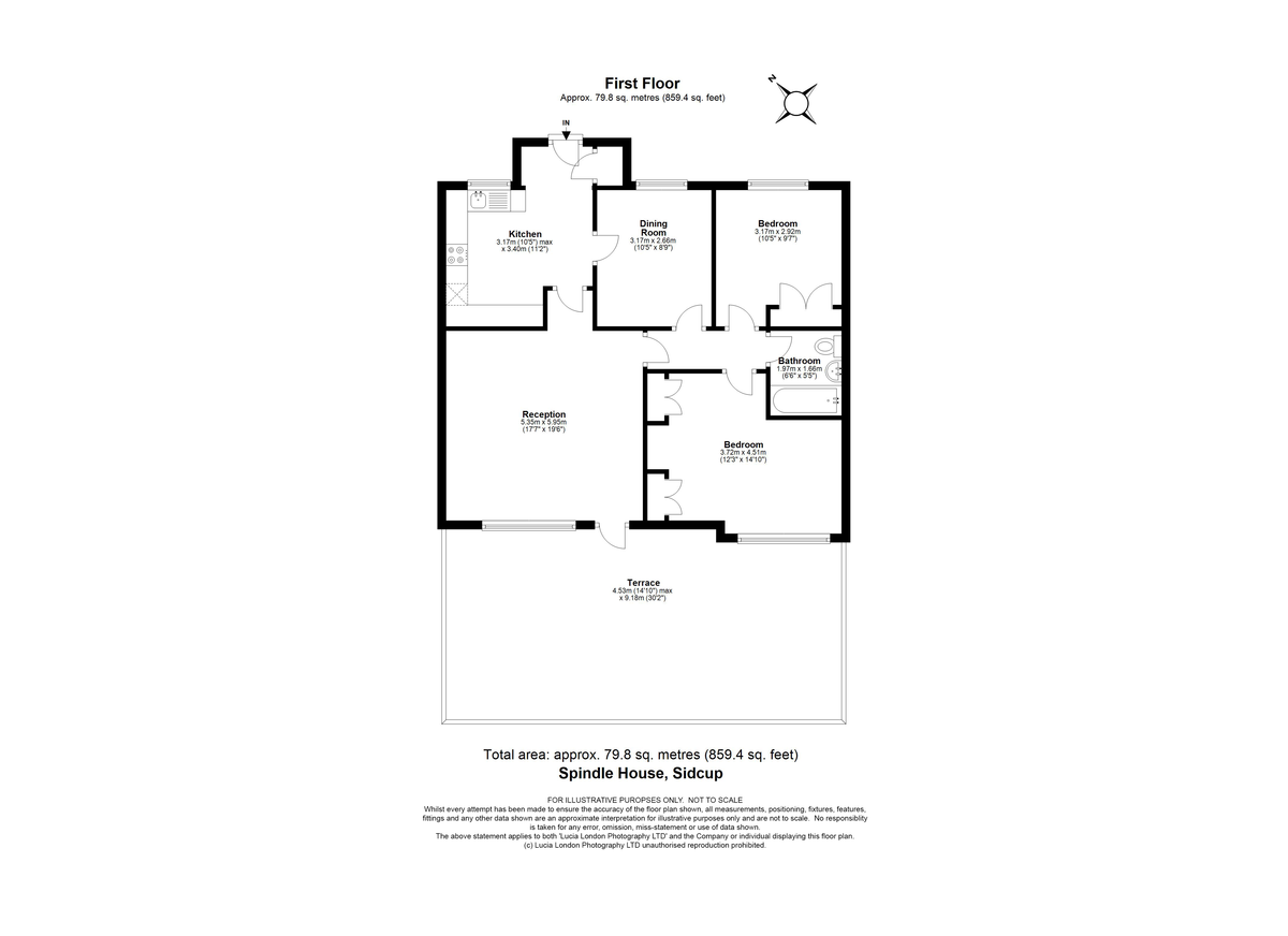 3 bed flat for sale in Manor Road, Sidcup, DA15 - Property Floorplan