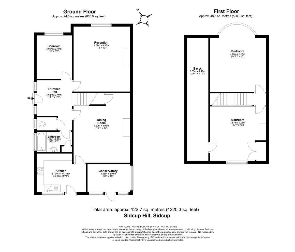 3 bed house for sale in Sidcup Hill, Sidcup, DA14 - Property Floorplan