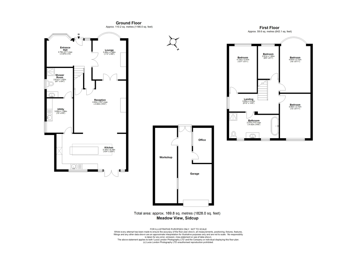 4 bed house for sale in Meadow View, Sidcup, DA15 - Property Floorplan