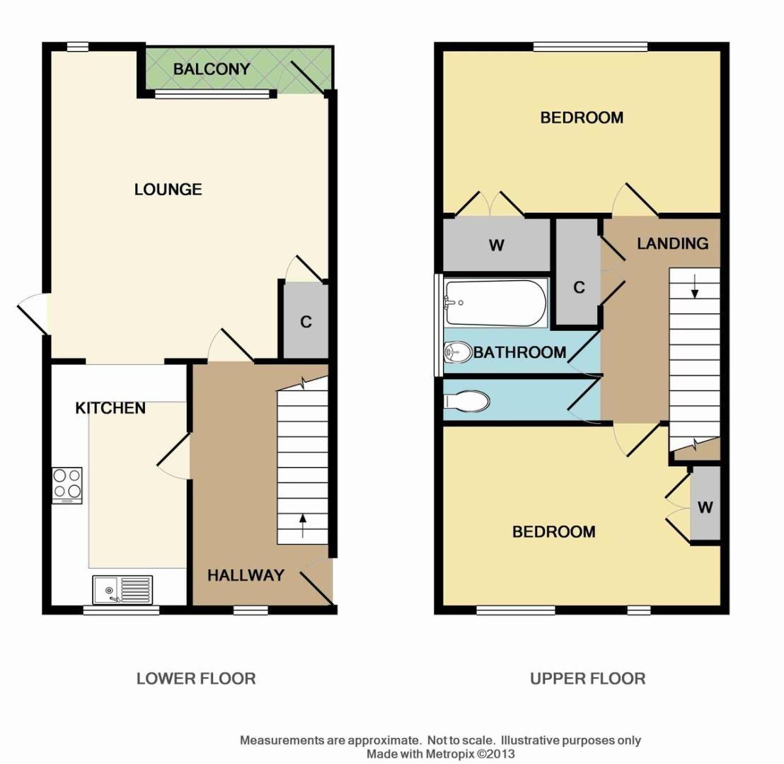 2 bed flat for sale in Longlands Road, Sidcup, DA15 - Property Floorplan