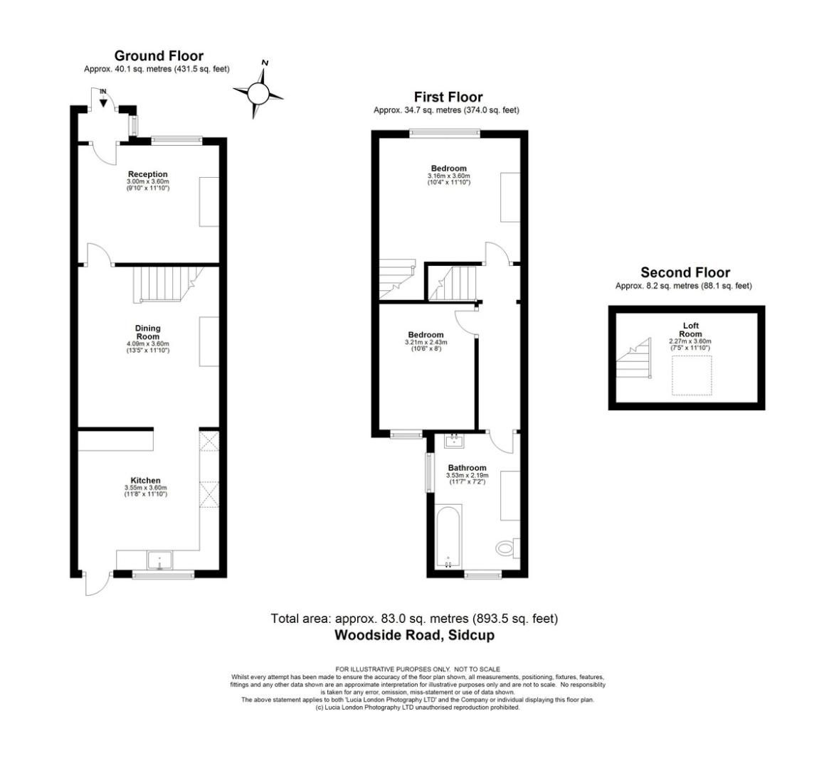2 bed house for sale in Woodside Road, Sidcup, DA15 - Property Floorplan
