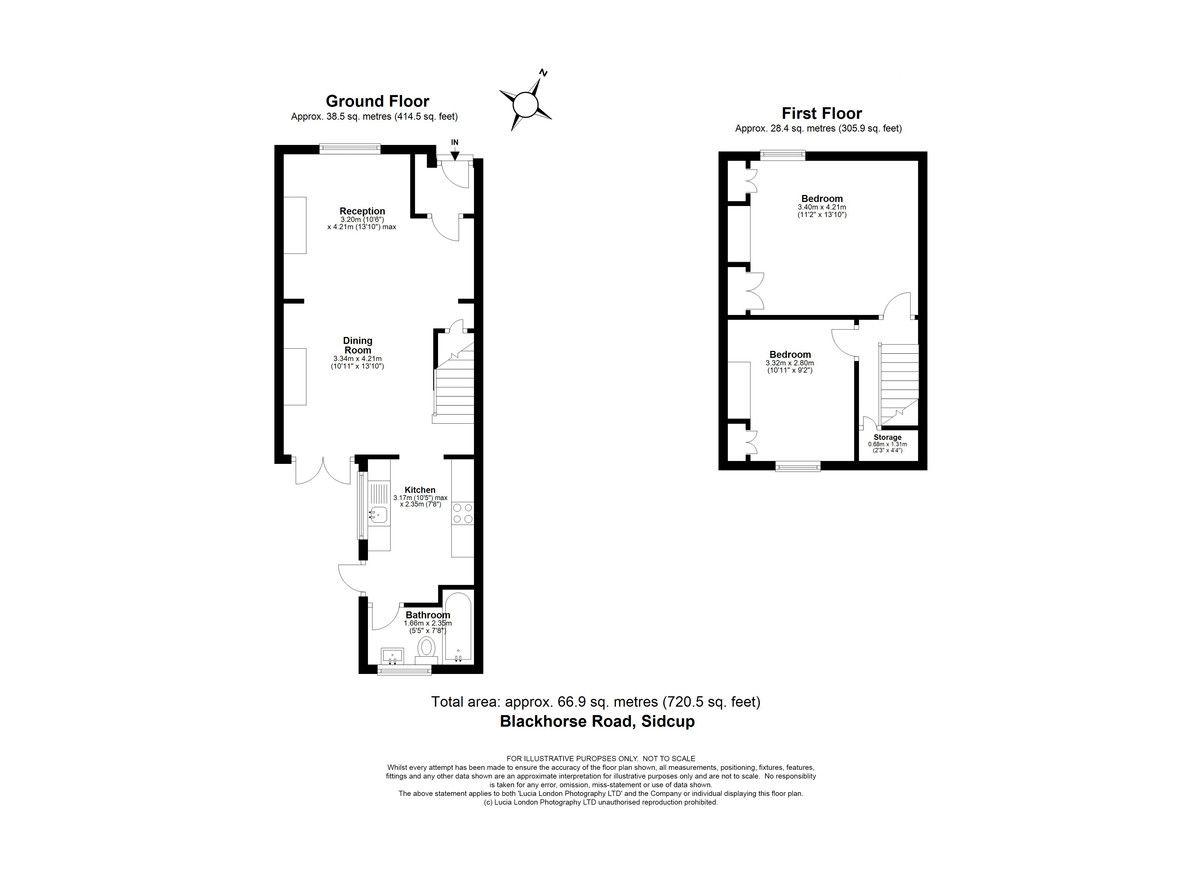 2 bed house for sale in Blackhorse Road, Sidcup, DA14 - Property Floorplan