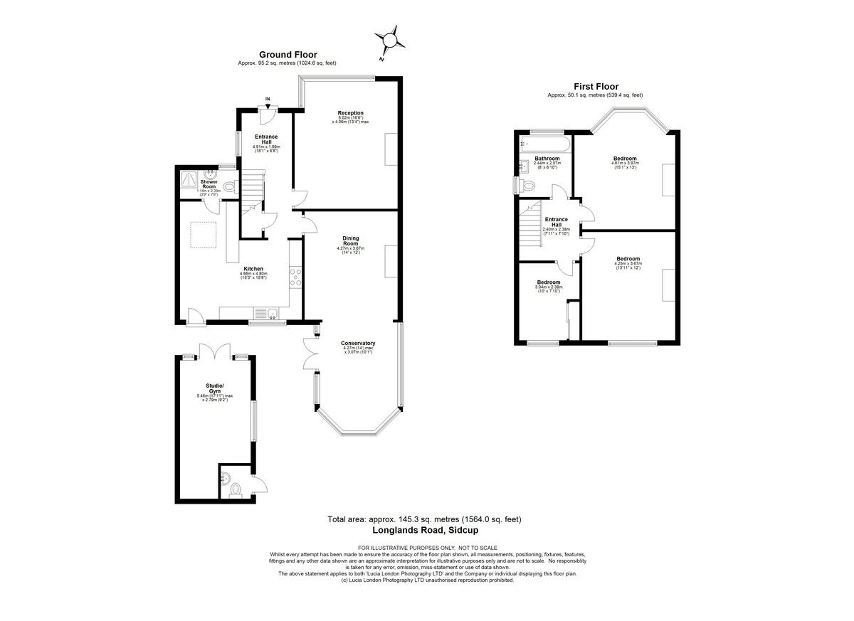 3 bed house for sale in Longlands Road, Sidcup, DA15 - Property Floorplan