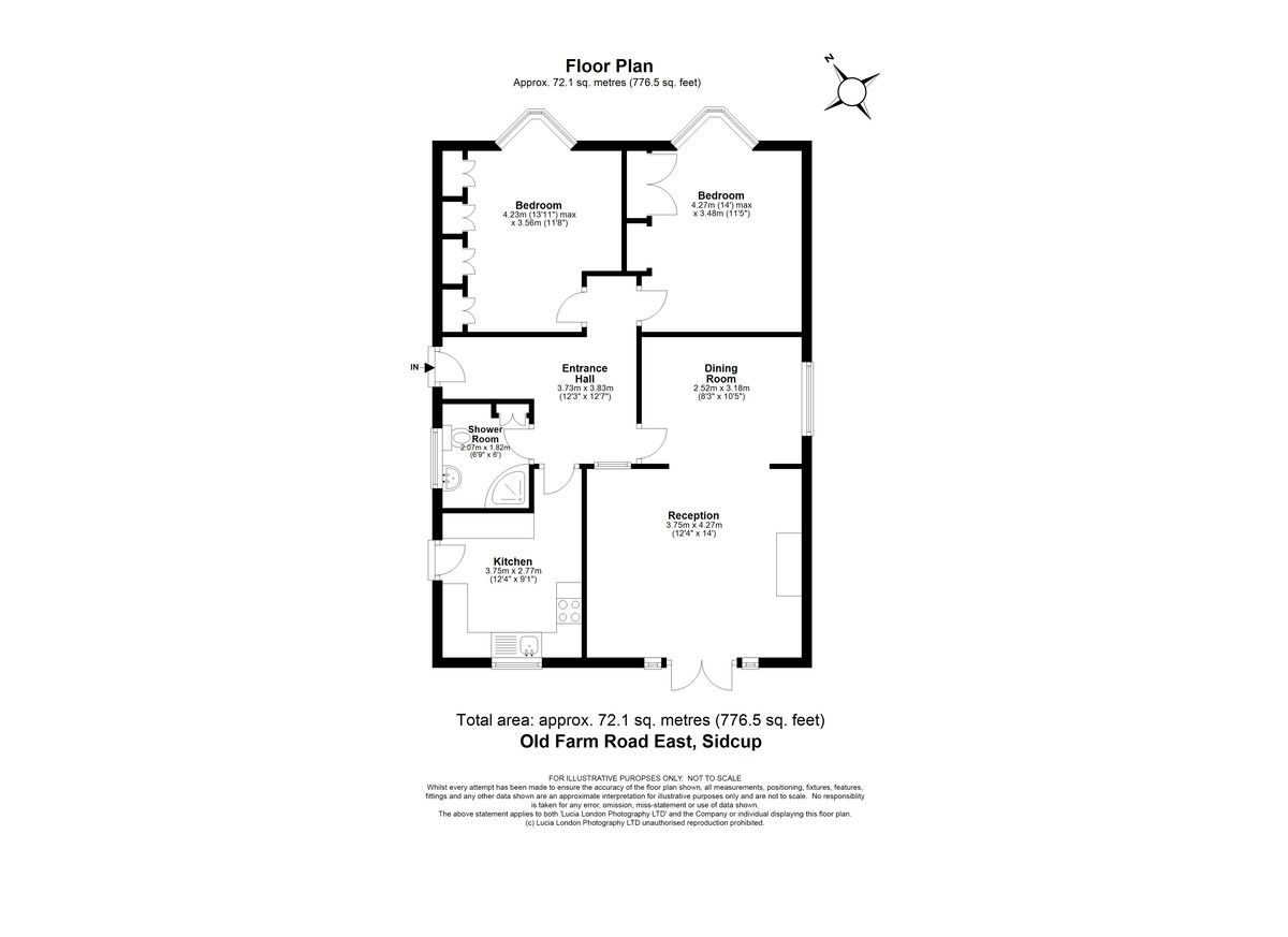 2 bed bungalow for sale in Old Farm Road East, Sidcup, DA15 - Property Floorplan