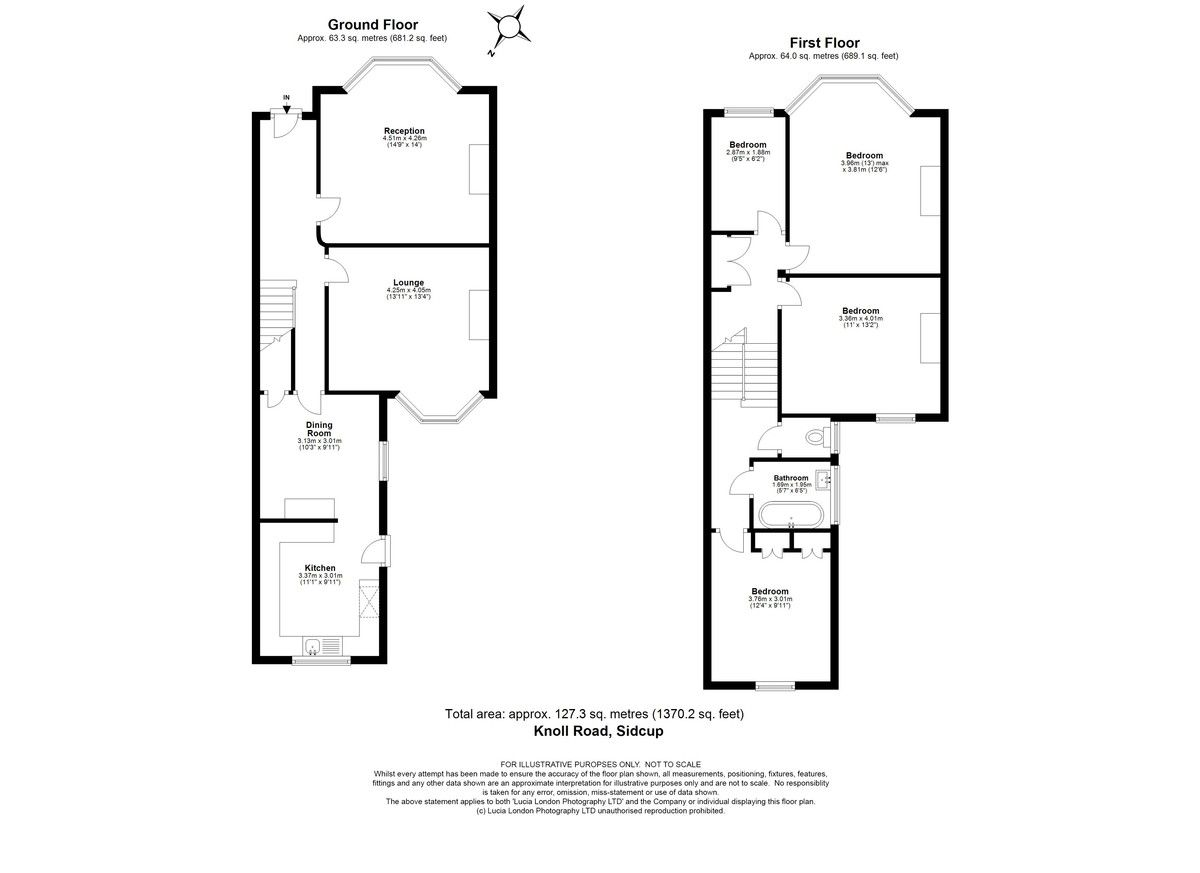 4 bed house for sale in Knoll Road, Sidcup. DA14 4QT - Property Floorplan