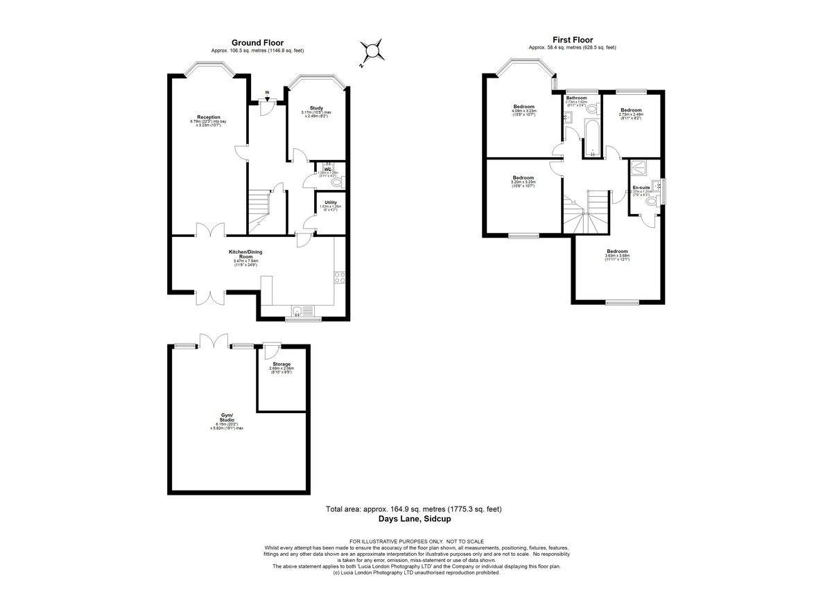4 bed house for sale in Days Lane, Sidcup, DA15 - Property Floorplan