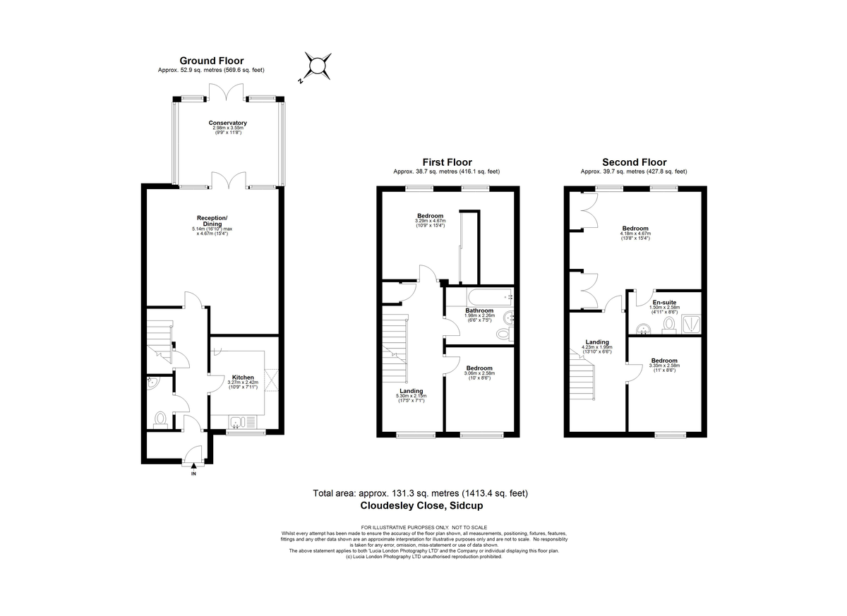 4 bed house for sale in Cloudeseley Close, Sidcup, DA14 - Property Floorplan
