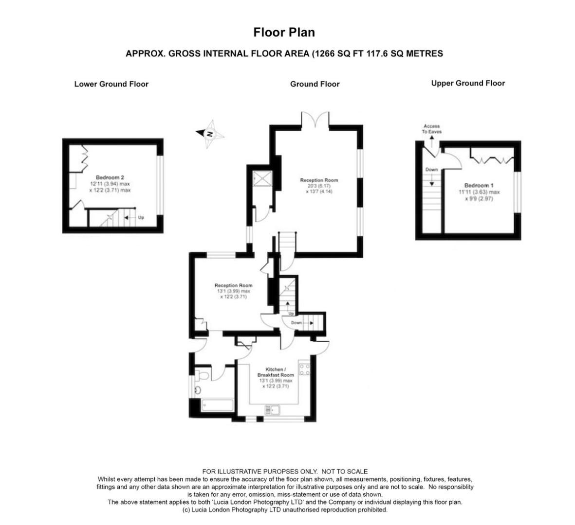 2 bed house for sale in Rectory Lane, Sidcup, DA14 - Property Floorplan