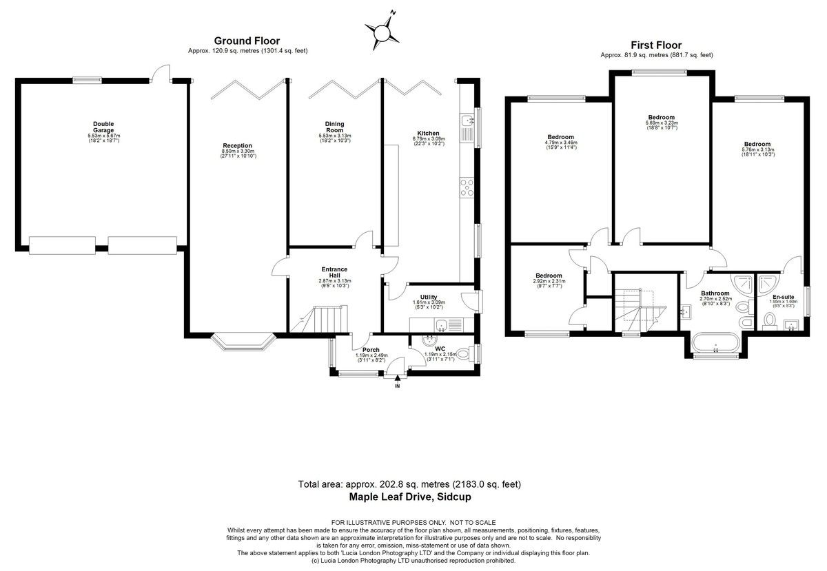 4 bed house for sale in Maple Leaf Drive, Sidcup, DA15 8W - Property Floorplan