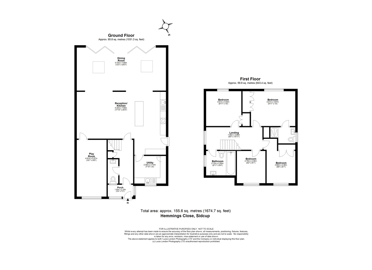 4 bed house for sale in Hemmings Close, Sidcup, DA14 - Property Floorplan