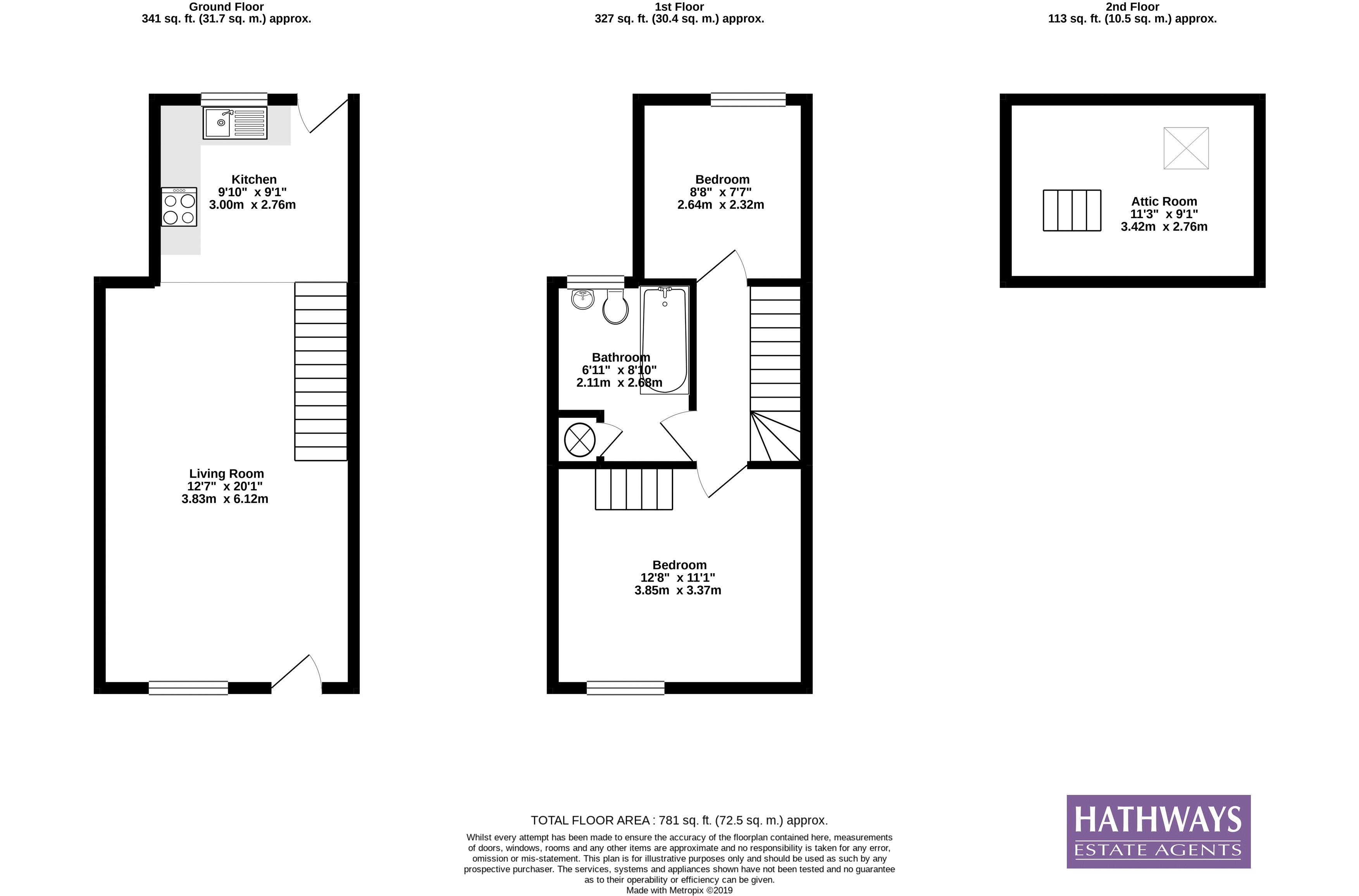 2 bed house for sale in Church Street - Property Floorplan