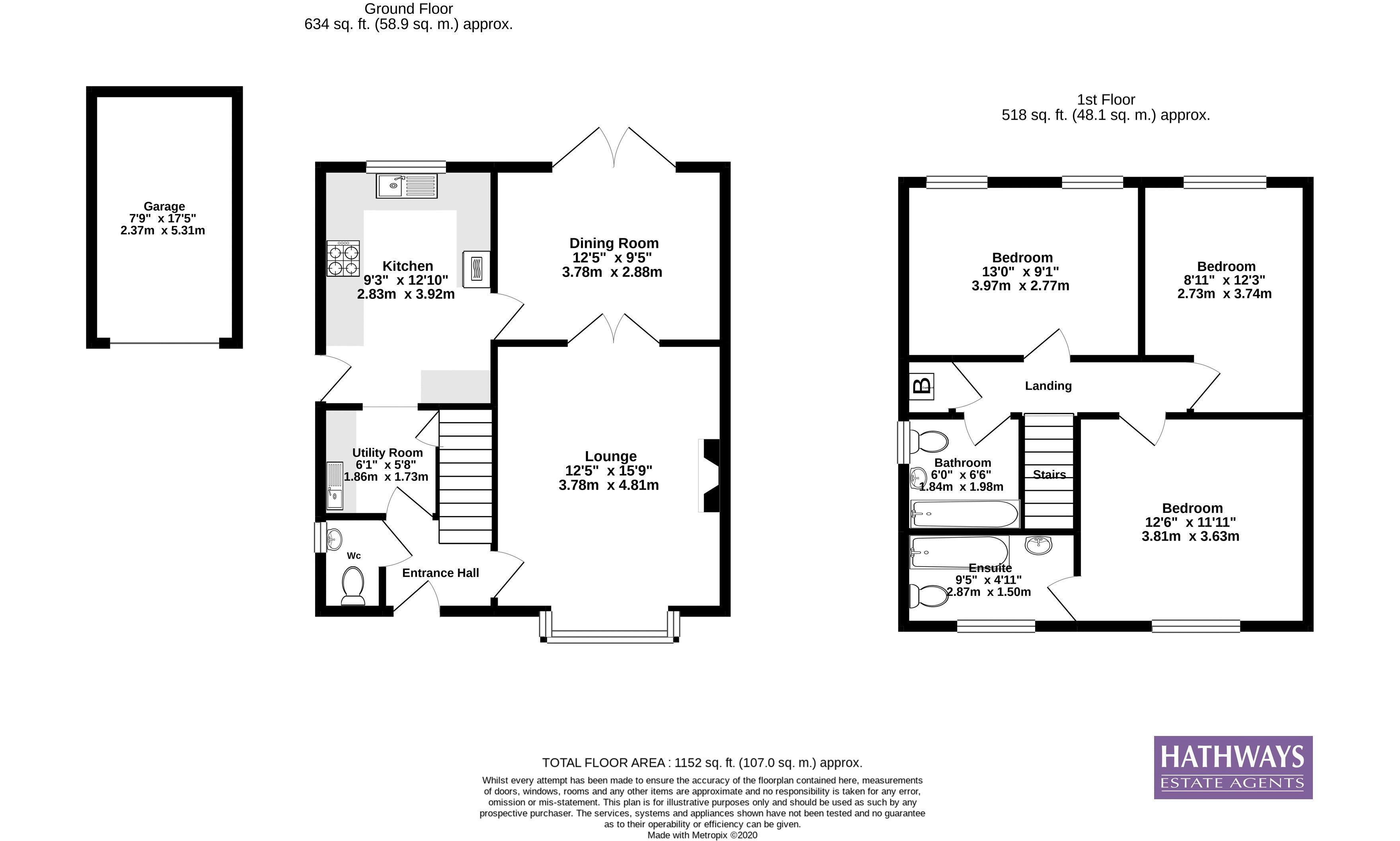 3 bed house for sale in Hawkes Ridge - Property Floorplan