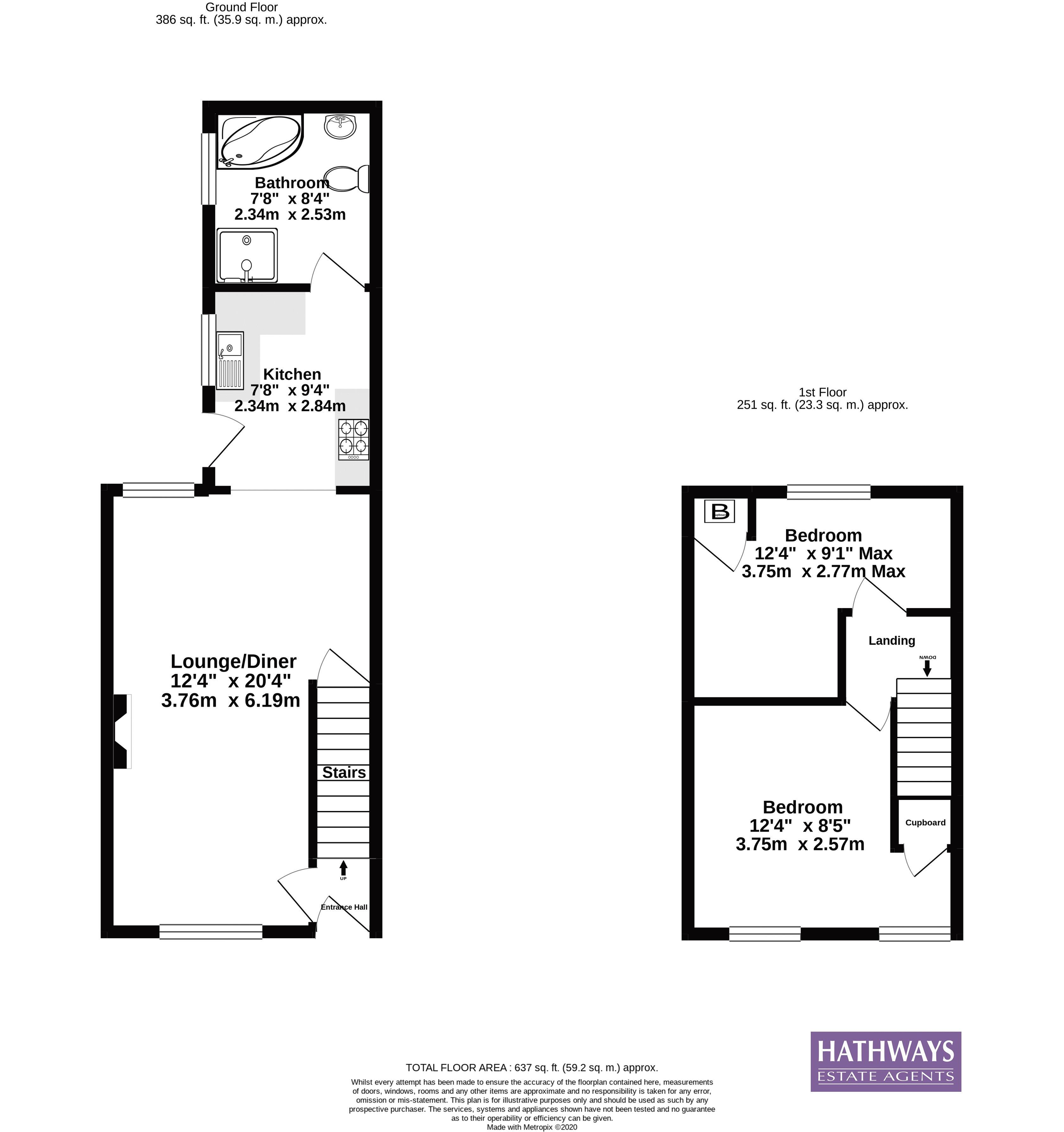 2 bed house for sale in Grosvenor Place - Property Floorplan