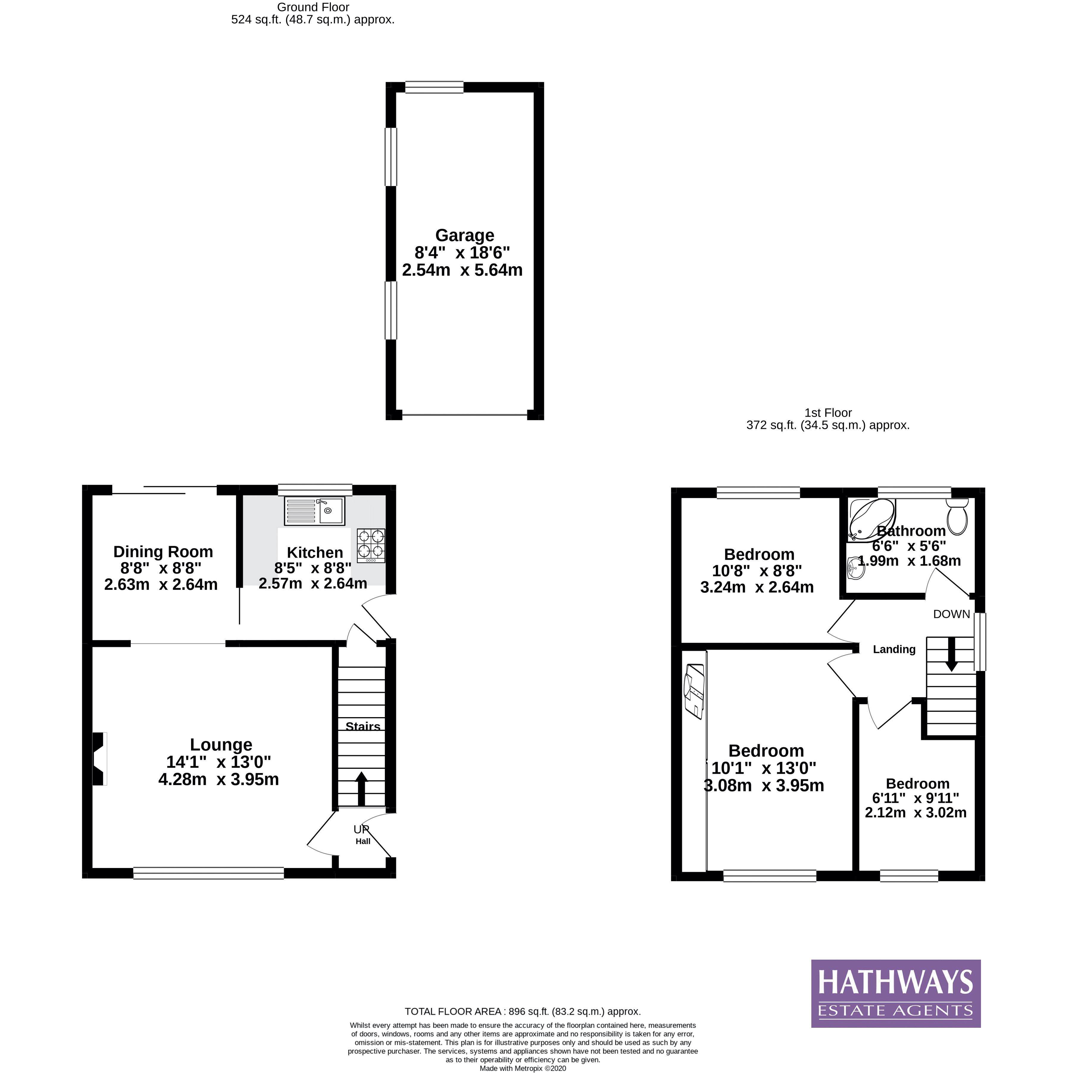 3 bed house for sale in Thornhill Close - Property Floorplan