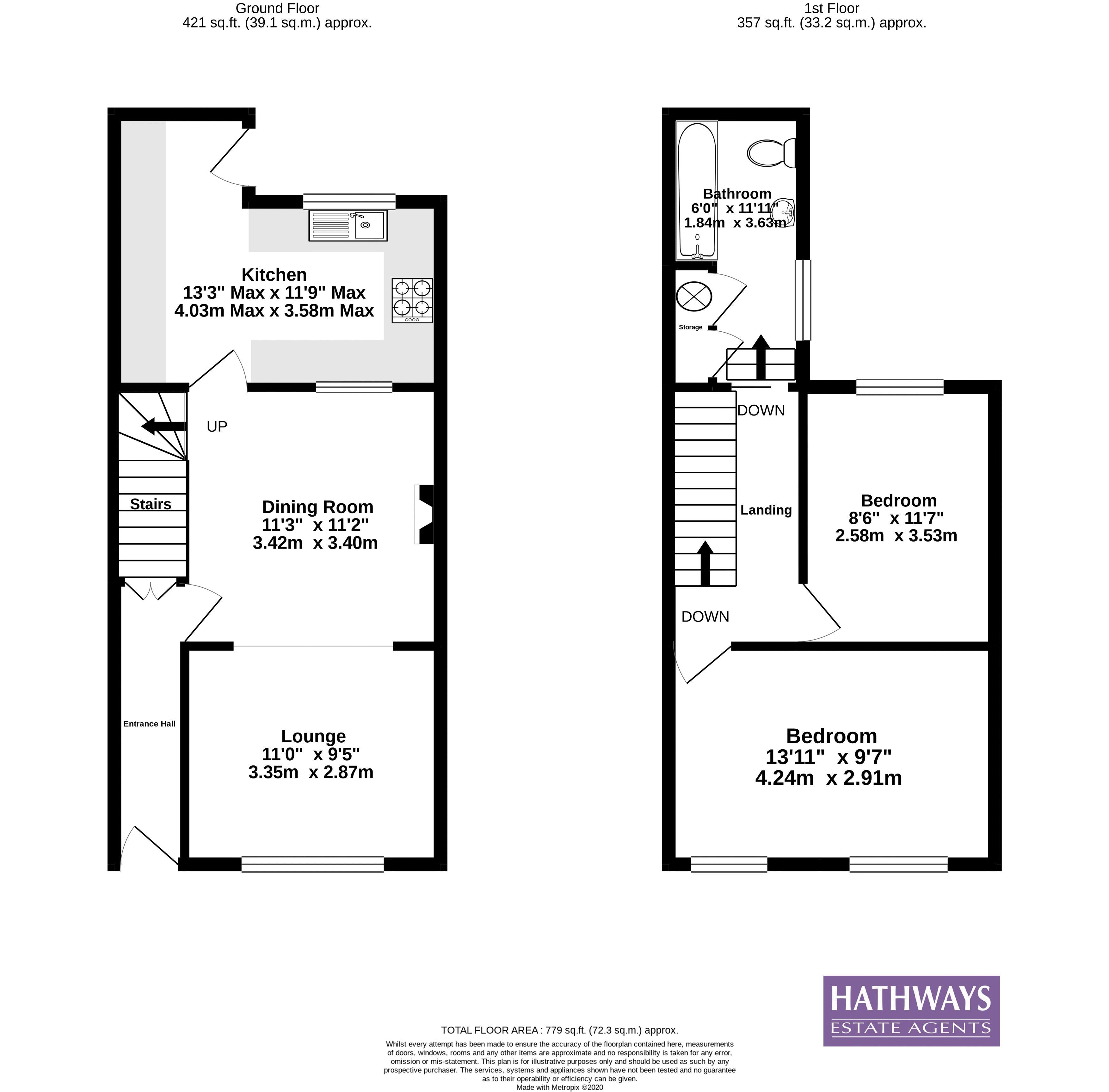 2 bed house for sale in Fowler Street - Property Floorplan