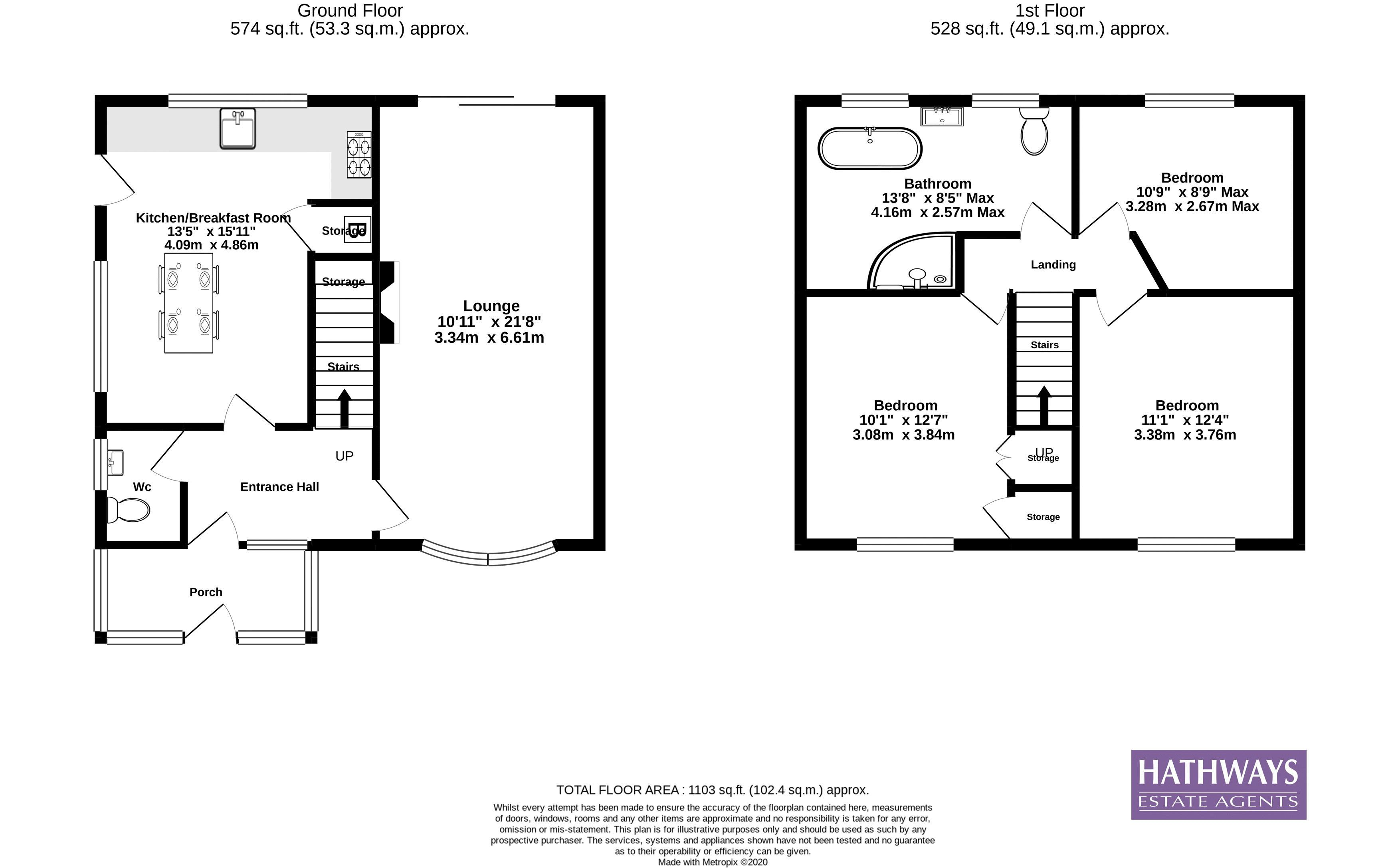 3 bed house for sale in Princes Walk - Property Floorplan